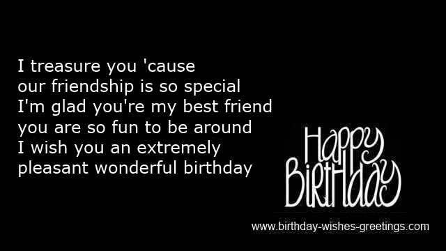 Best Wishes Birthday Special Friend Close Greetings New