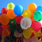 bunch of birthday balloons