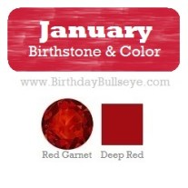 January Birthstone and Color