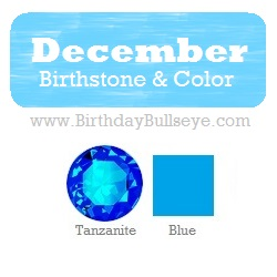 December Birthstone and Color