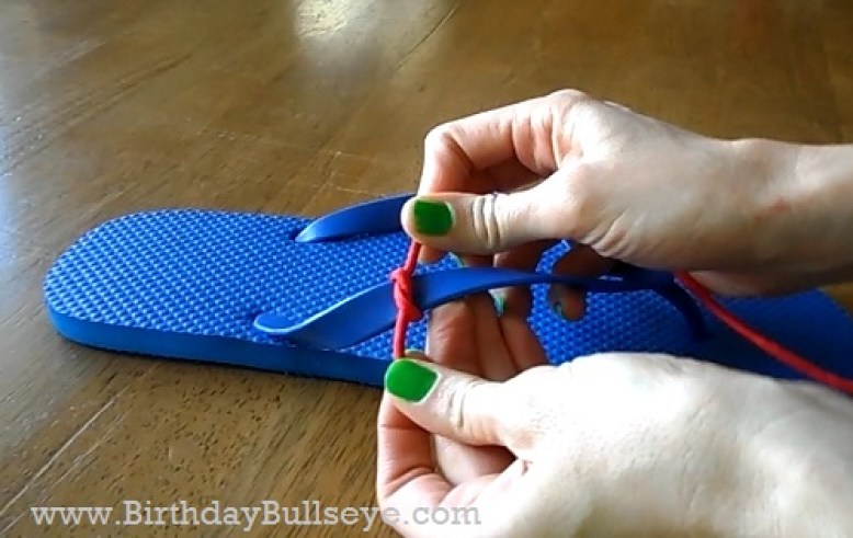 Flip Flop Paracord Tutorial Step 1