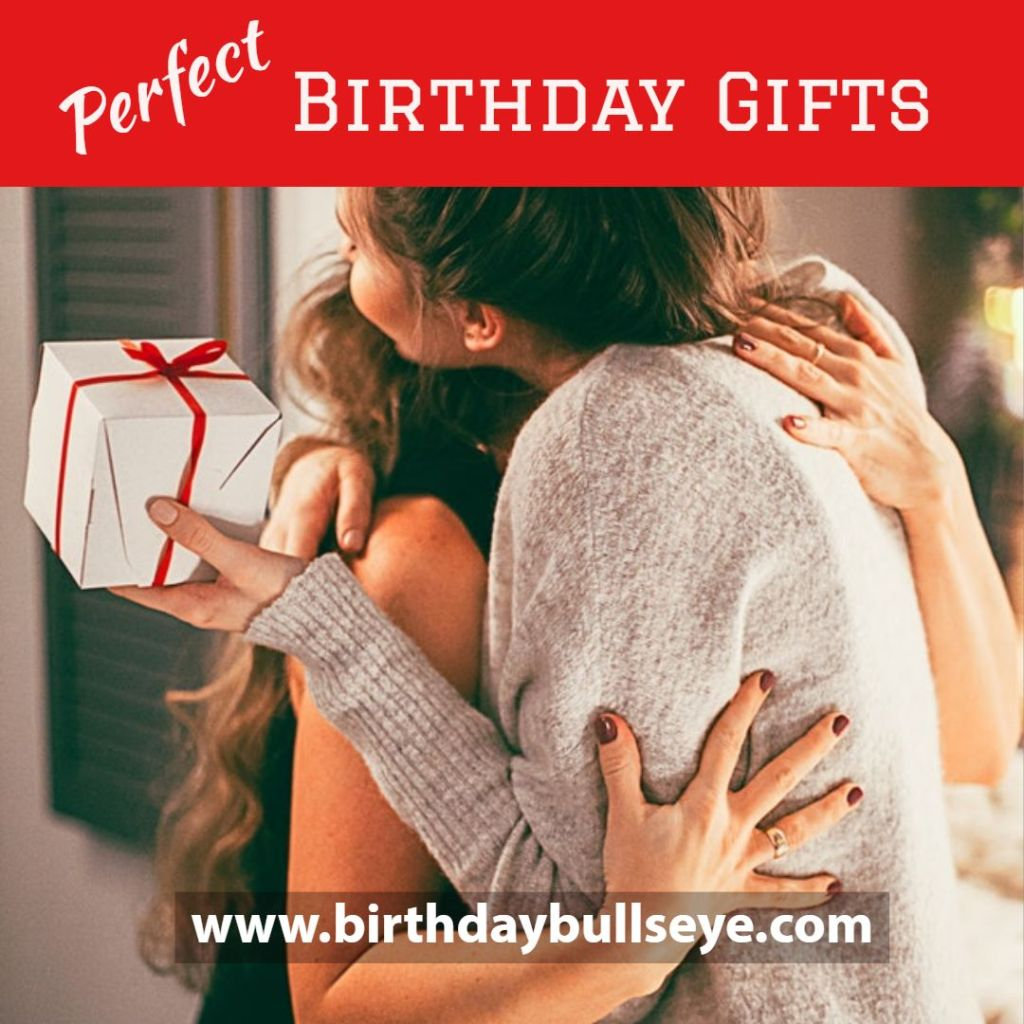 Woman getting the perfect birthday gift