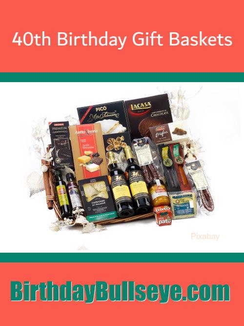 40th Birthday Gift Baskets Image