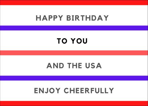 USA Birthday Card Image