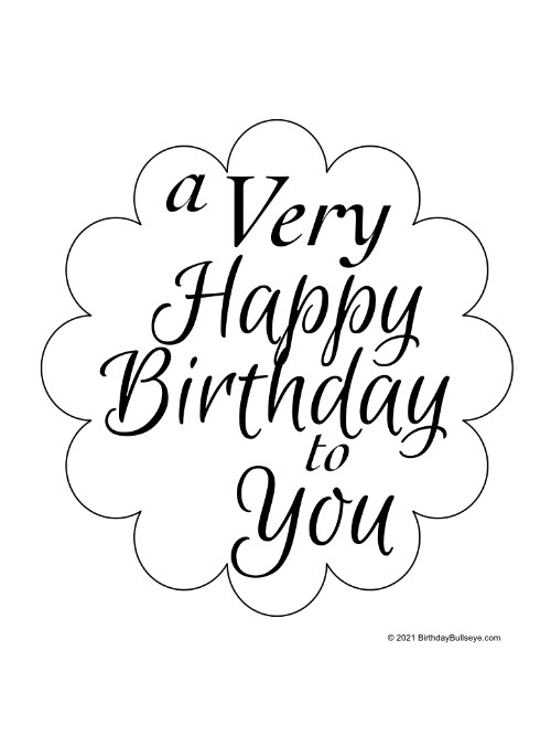 A Very Happy Birthday Printable Sign Free