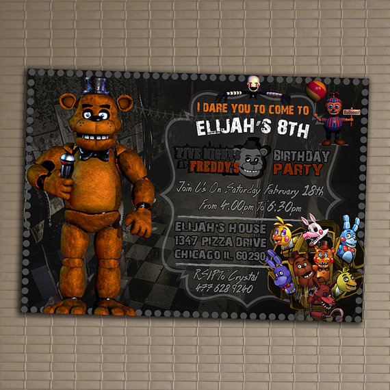 five nights at freddy s birthday party