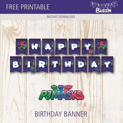 Free Pj Masks Birthday Printables Archives Page 2 Of 3 Birthday Buzzin