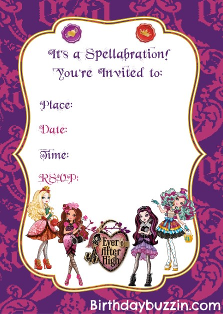 Ever After Party Invitations High