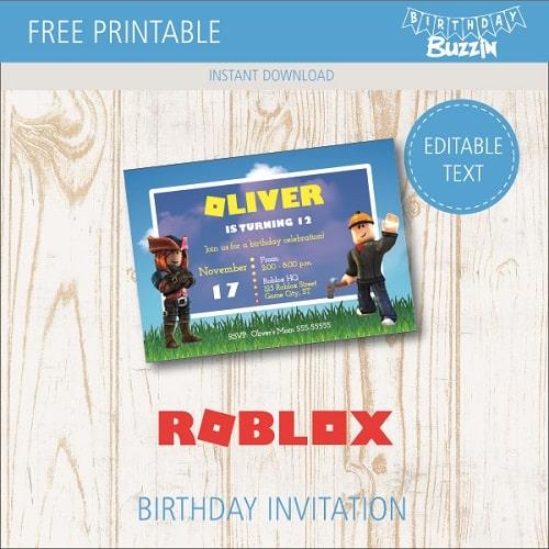free printable roblox birthday