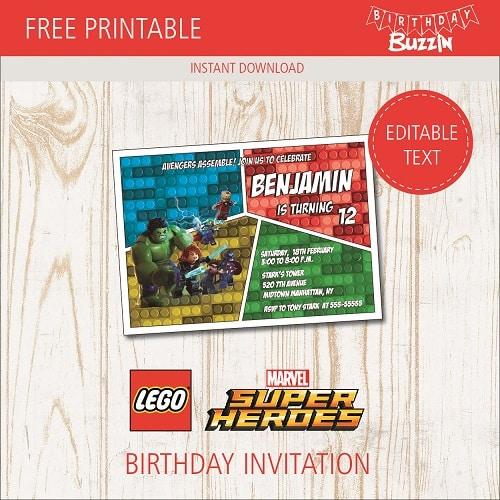free printable lego marvel superheroes