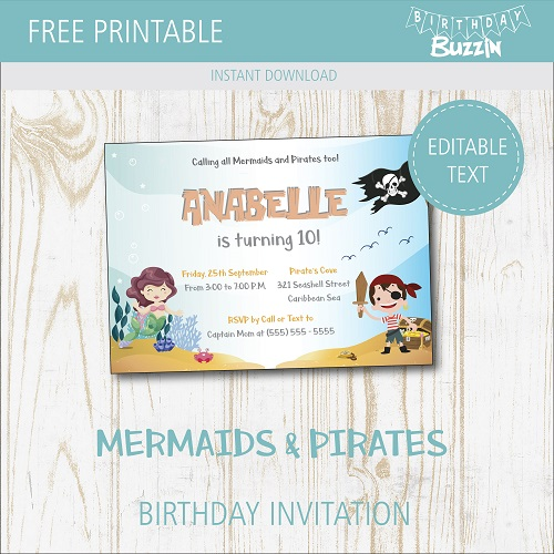 free printable mermaids and pirates