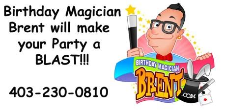Birthday magician Brent