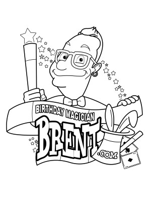 Birthday Magician Brent's FREE coloring sheet