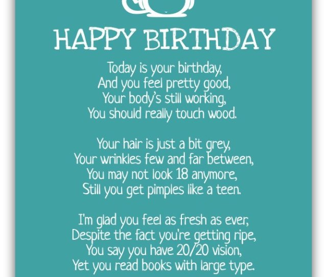 Funny Birthday Poems Funny Birthday Messages Download Birthday Postcard
