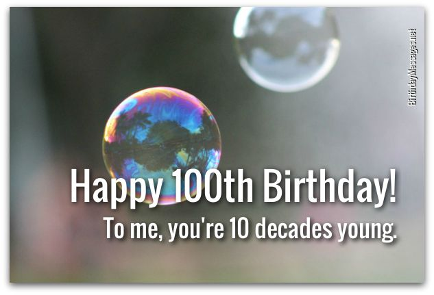 100th Birthday WishesBirthday Messages For 100 Year Olds
