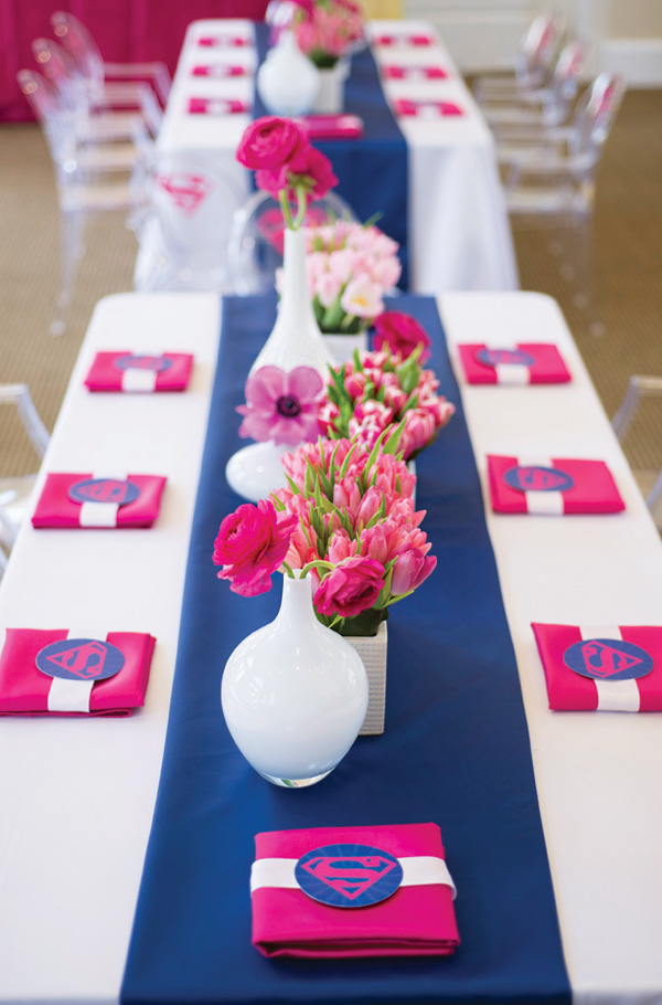 Supergirl Birthday Party In Pink Amp Blue Birthday Party
