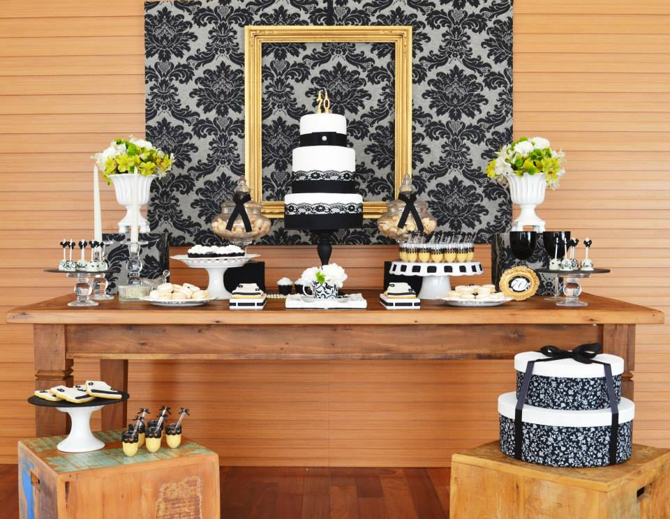 Gold Black Damask 70th Birthday Party Birthday Party Ideas Themes