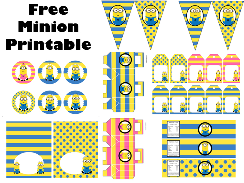 picture about Minion Logo Printable known as Free of charge Minion Bash Printable - Birthday Occasion Strategies Themes