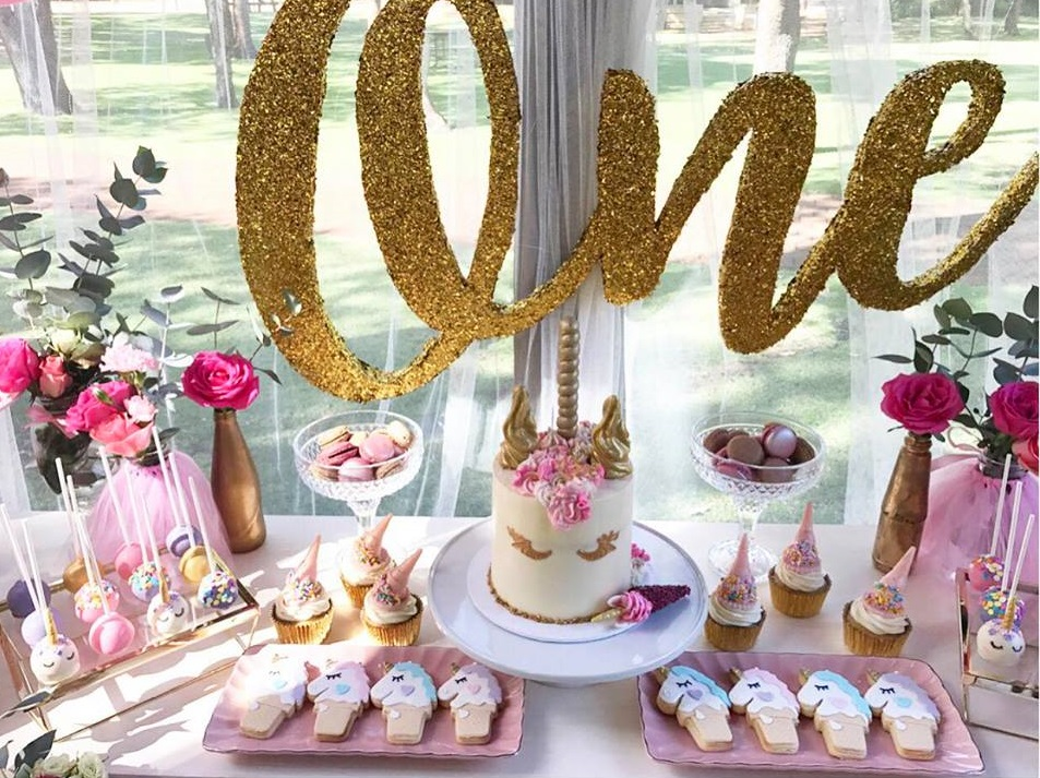 First Unicorn Birthday Party Decoration Food Ideas