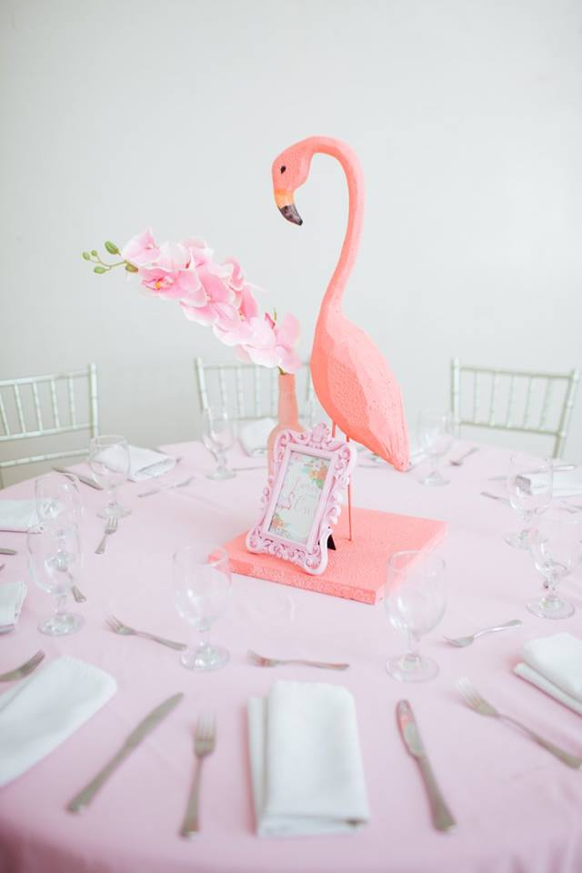 Tropical Flowers And Flamingos Birthday Birthday Party