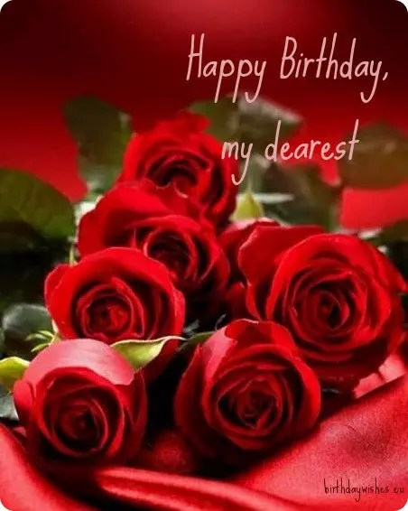 Birthday Red And Roses Happy Love