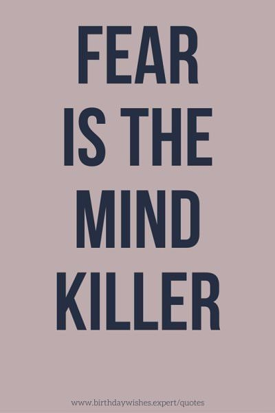 Let Fear Never Quotes