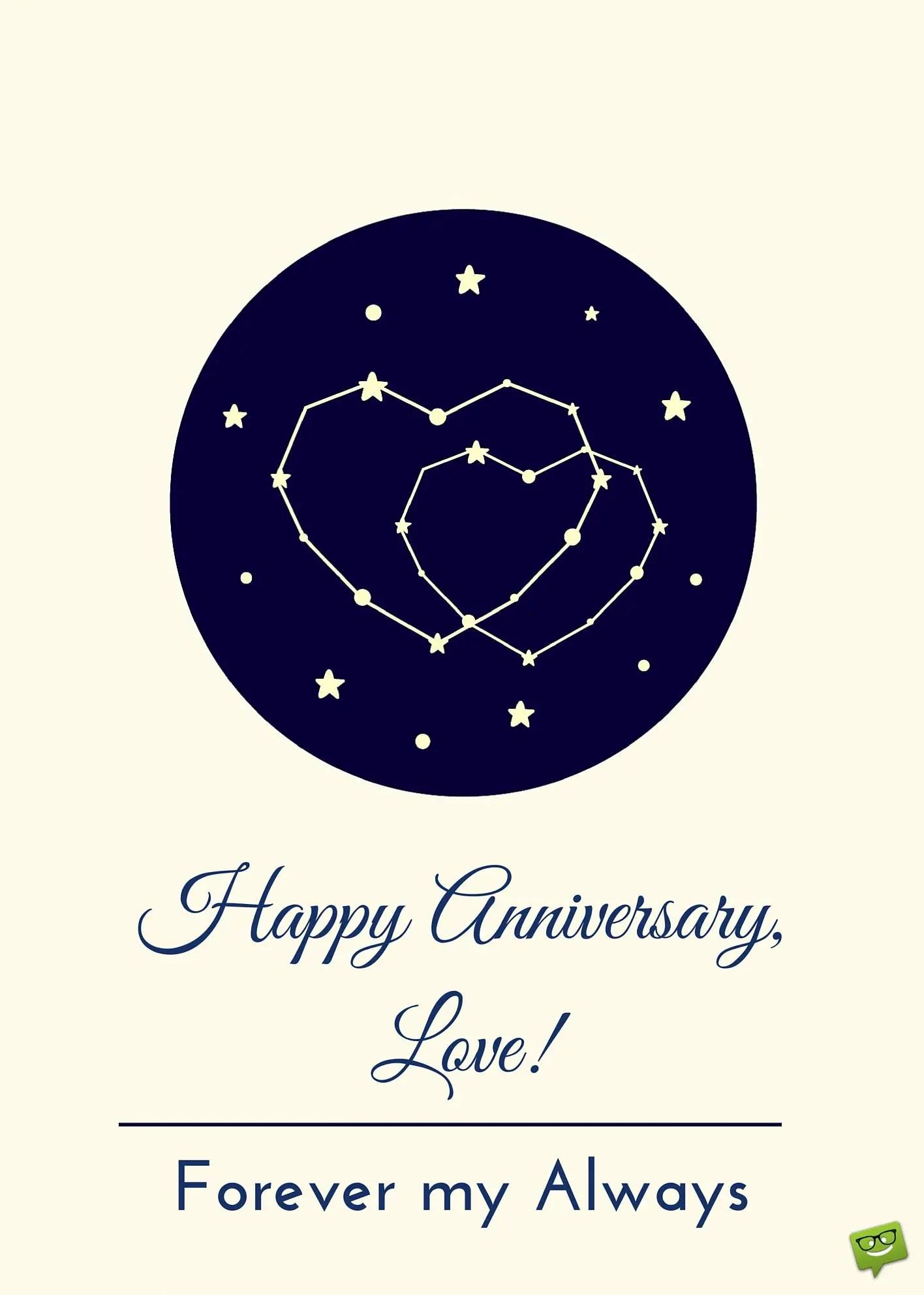 Happy Anniversary Love Forever My Always