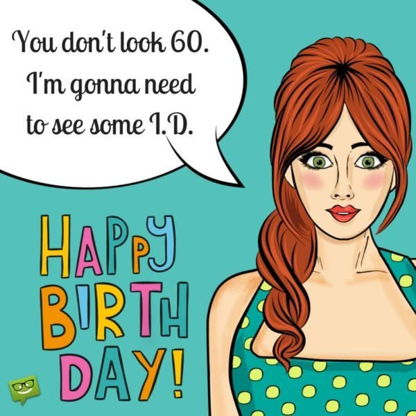Funny 60th Birthday Wishes