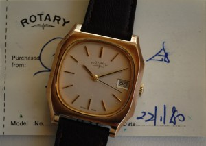 1980 Rotary manual wind men's watch