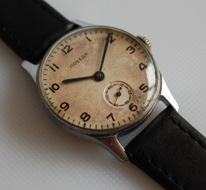 1955 Pobeda men's watch with sub seconds