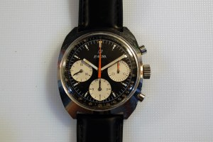 c1973 Enicar men's chronograph watch