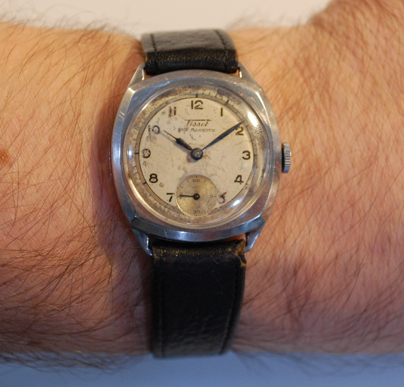 Sold 1940 tissot anti magnetic men 39 s watch birth year watches for Magnetic watches