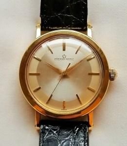 c1953 Eterna-Matic 18ct gold watch