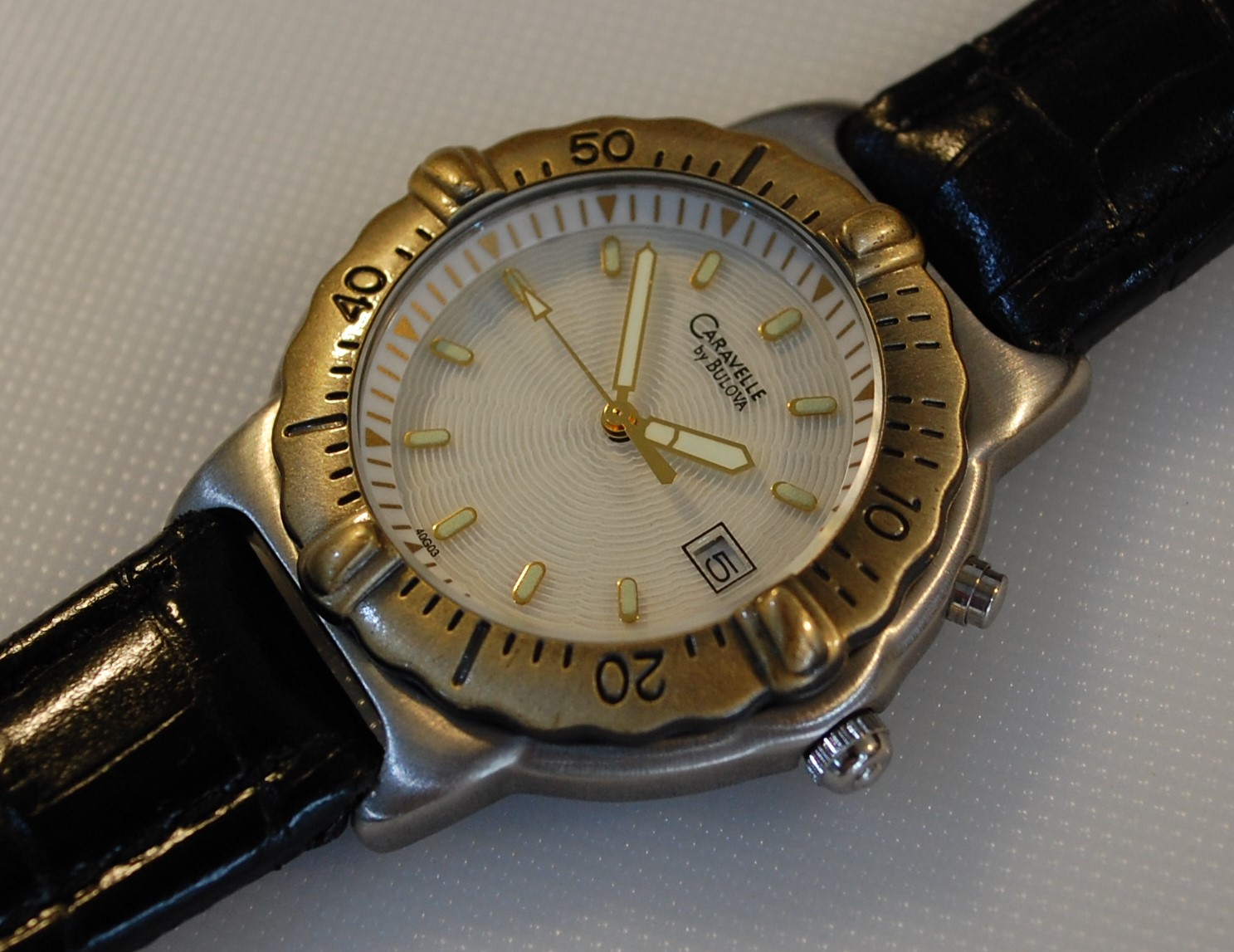 1998 Caravelle by Bulova men's diver style watch