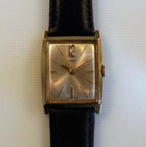 1968 Timex watch in rectangular case