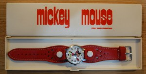 c1975 Mickey Mouse manual watch with box