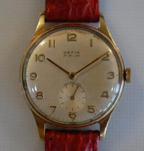 1962 Hefik 9k gold men's watch
