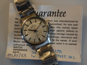 1973 Baylor men's watch with box and papers