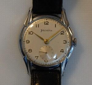 c1948 Helvetia men's watch with sub seconds