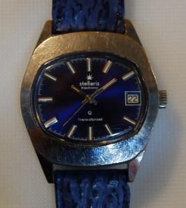 c1975 Stellaris Electronic watch - Blue Dial