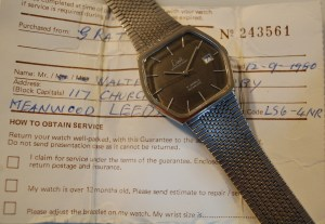 1980 Limit watch with box and papers