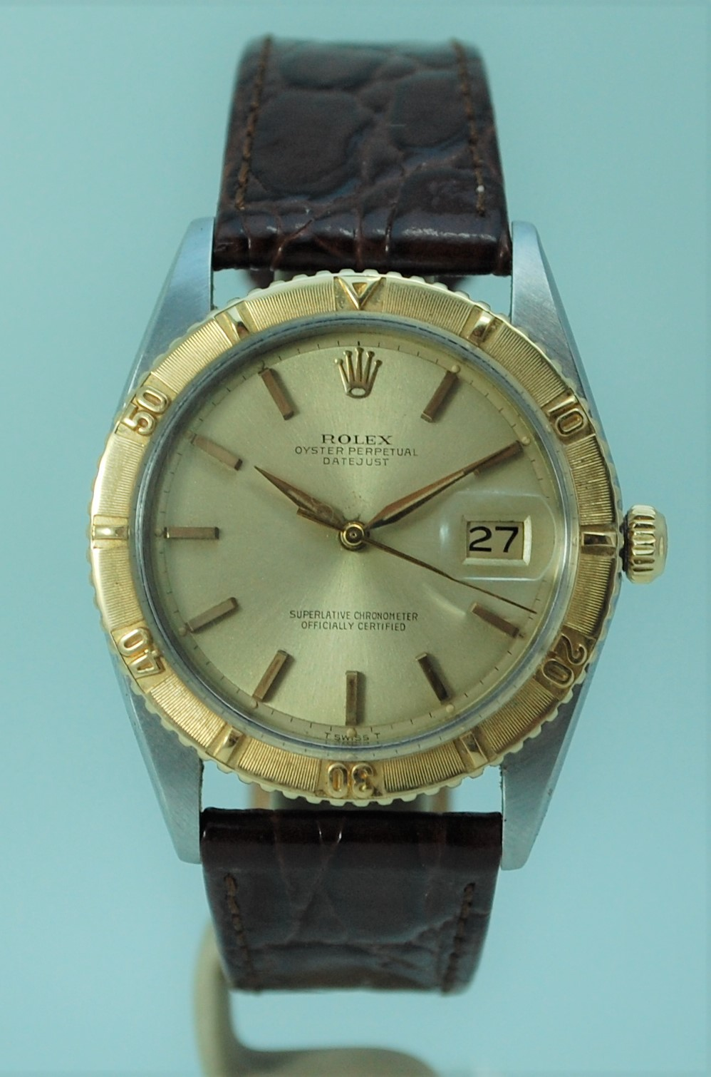 Where is the serial number on a rolex oyster perpetual datejust