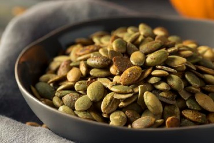 Organic, flavorful homemade pumpkin seeds rich in omega-6