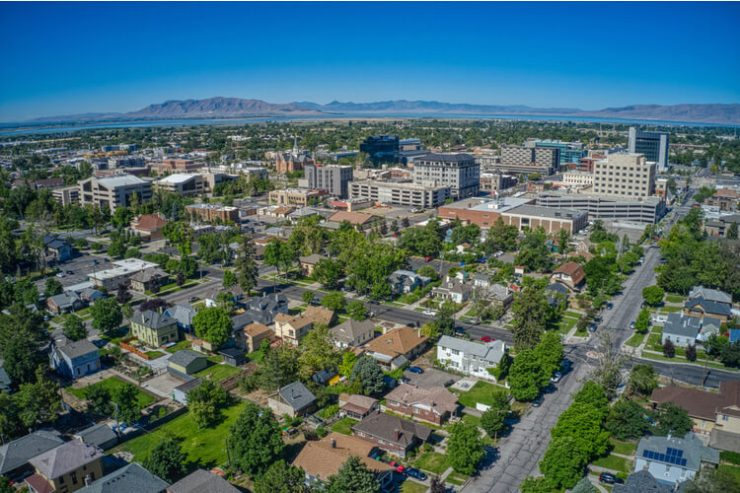 Provo aerial view Hot US housing market