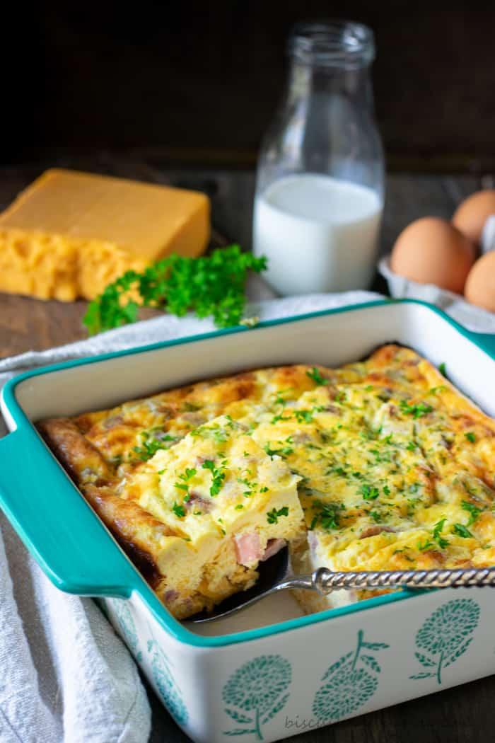 Low Carb Breakfast Casserole With Ham