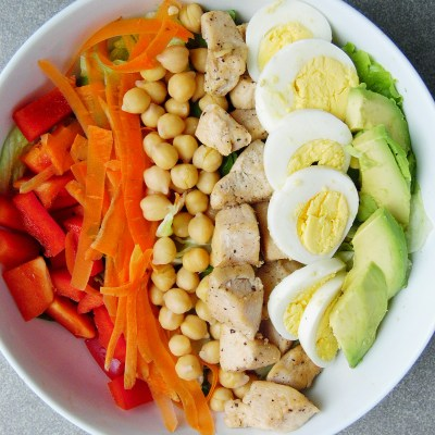 Avocado Chicken Salad with Homemade French Dressing