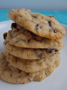 cherry chocolate chip oatmeal cookies
