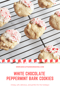 white chocolate peppermint bark cookies