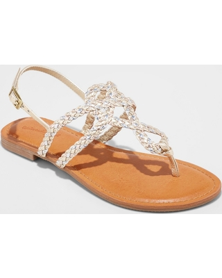 Women's Jana Braided Thong Ankle Strap Sandal - Universal Thread™