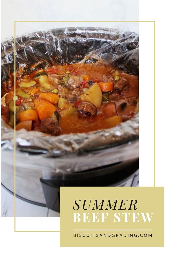 Summer Beef Stew Pinterest #crockpot #slowcooker #weeknightmeals #comfortfood